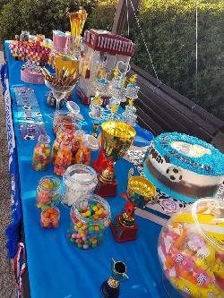 שולחן מעוצב יום הולדת כדורגל
