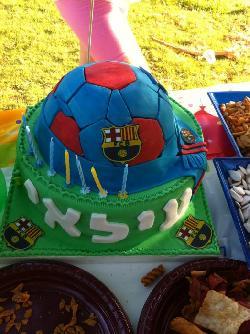 עוגה ליום הולדת כדורגל